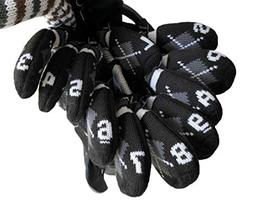 HUGELOONG Knit Golf Iron Head Covers Set 11-Piece-Head Cover