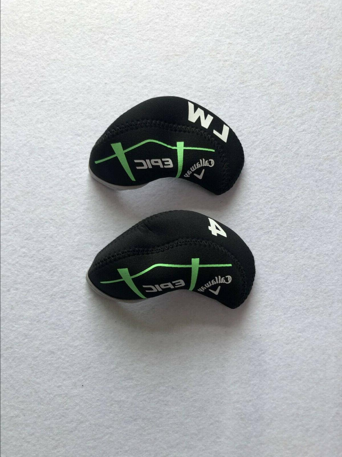 10PCS Headcovers for Callaway EPIC Covers Black&Black 4-LW