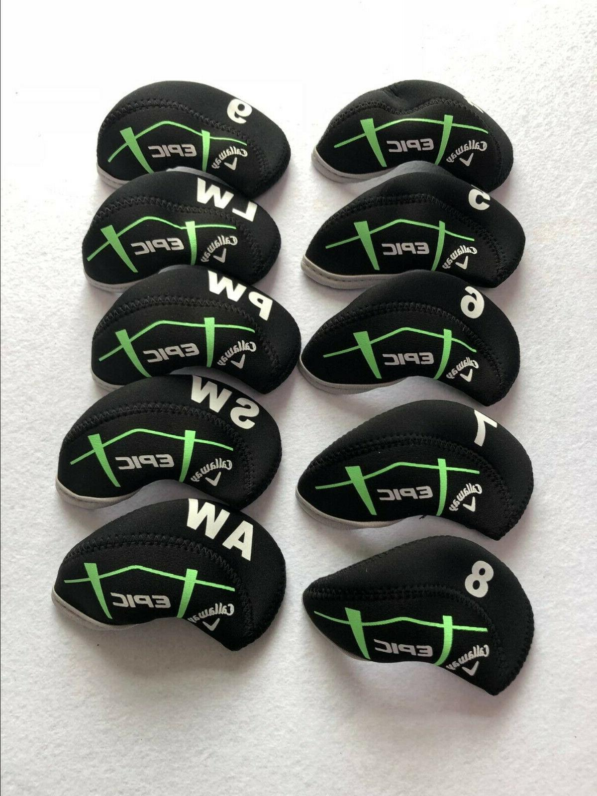 10pcs golf iron headcovers for epic club