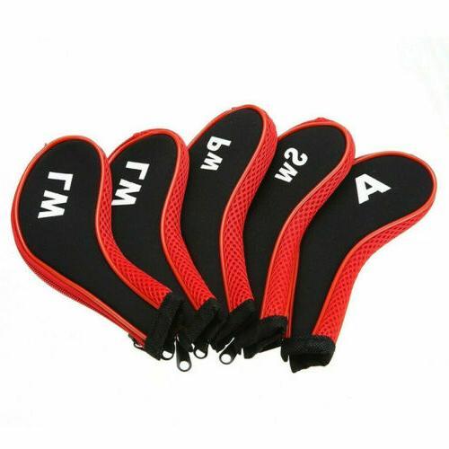 12 Golf Irons Covers Neoprene Long Neck