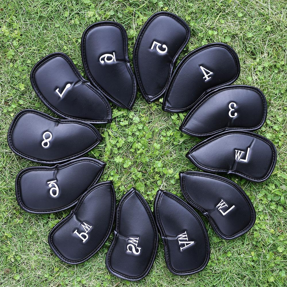 12 pcs pu leather golf iron head