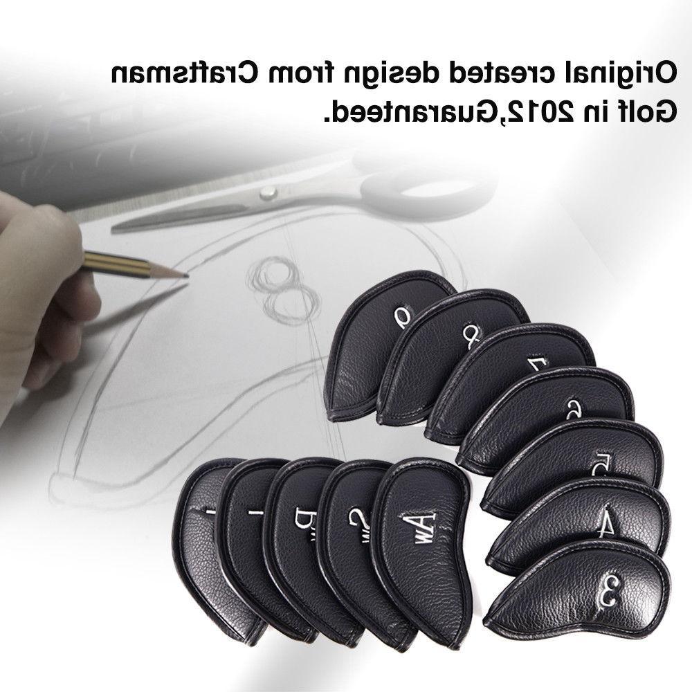 12pcs pu leather iron head covers set