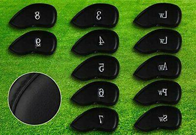 12pcs Thick Golf Head Set Headcover Fit Brands