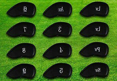 12pcs Synthetic Leather Golf Set Headcover Brands