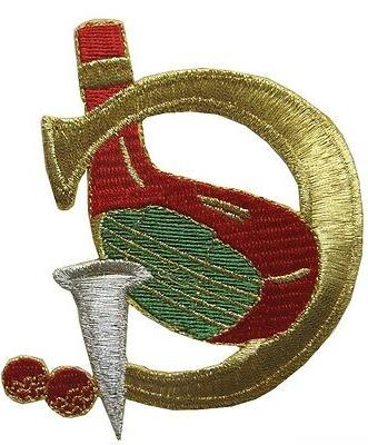 2741 3 embroidery iron on golf applique