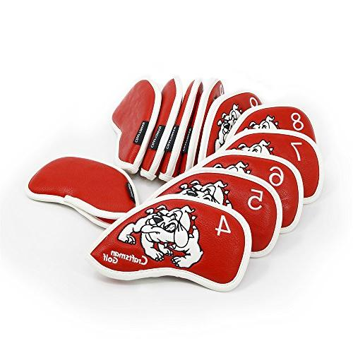 Craftsman Bulldog Waterproof Pu Leather Headcover Head Covers Set Taylormade,Callaway Other