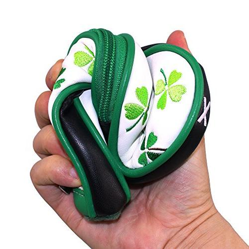 Craftsman Golf 9pcs Clover Shamrock Golf Headcovers Head Set Suitable for Right Left handed Closure For Taylormade Callaway Titleist