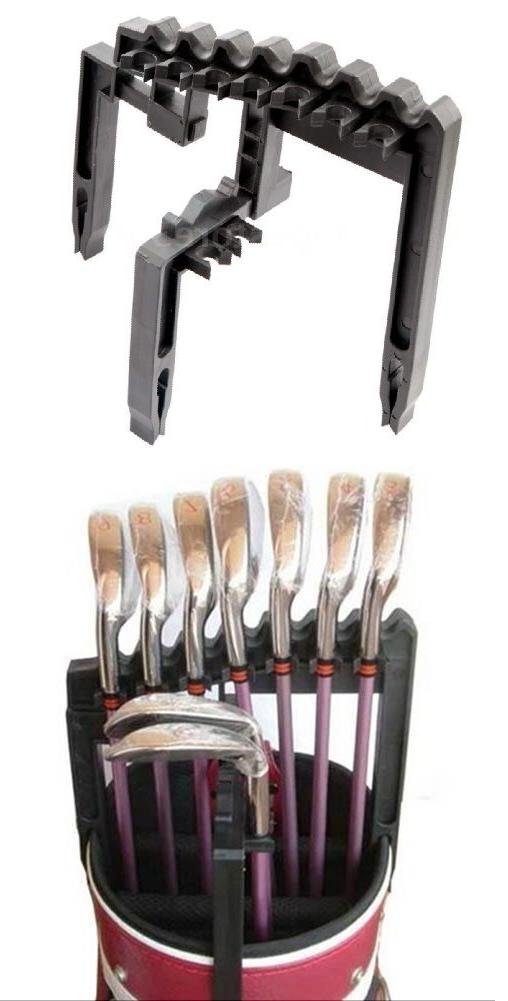 A99 Golf Club Holder Black Tool, Organize Irons Above