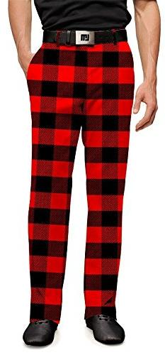 Loudmouth Golf Mens Pants - Lumberjack  - Size 36x32
