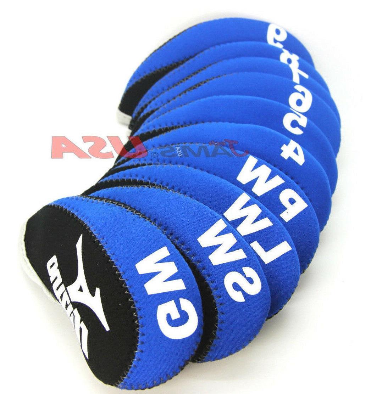 MIZUNO Blue & Black Color Golf Iron HeadCover 10 pcs Set Hea
