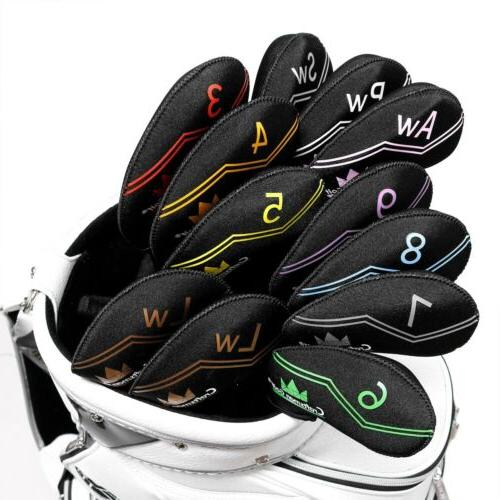 Black Set Neoprene Wedge Iron Colorful