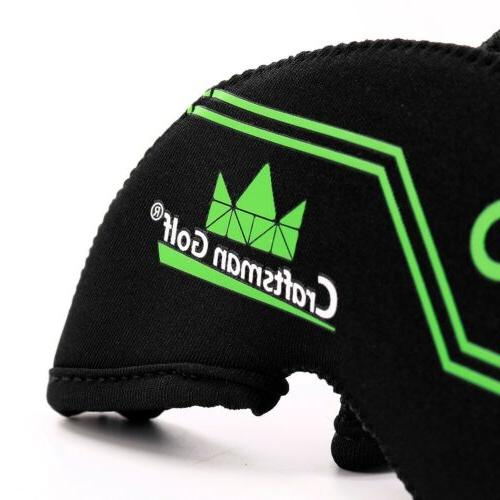 Black 12pcs Neoprene Golf Iron Head Cover Colorful