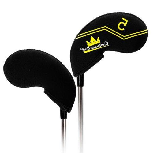 Black Set Neoprene Golf Club Iron Colorful LW