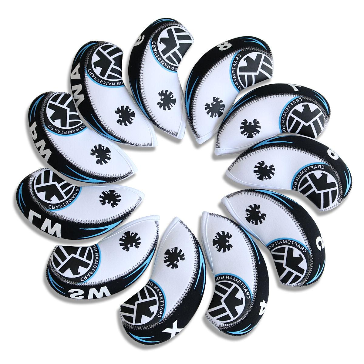 11pcs Golf Iron Head Covers For Cleveland Mizuno Callaway Ta