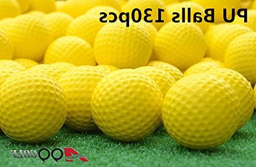 elastic practice pu balls yellow
