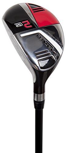 Pinemeadow Golf Men's Excel EGI Hybrid Club, Graphite, 25-De