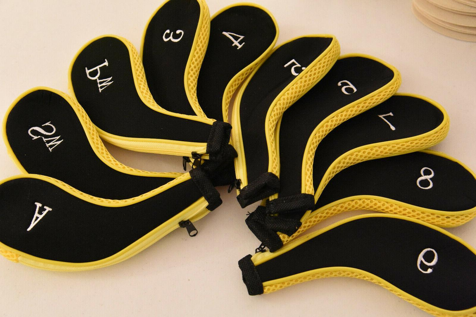 golf club head covers for irons yellow