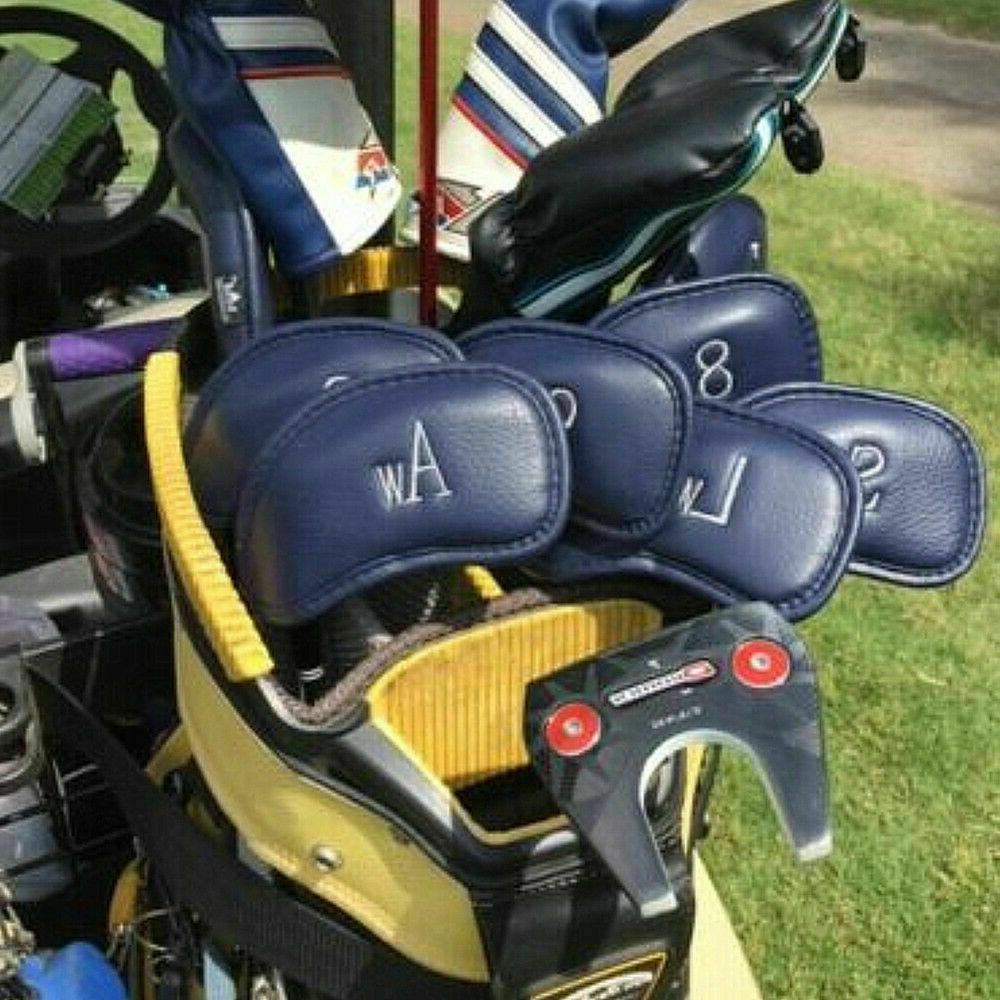 Golf Club Head Covers Headcovers PU Leather Mizuno