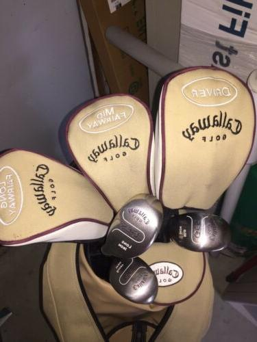 Callaway GES Ladies Golf Clubs Set Bag Woods, Irons, Putter
