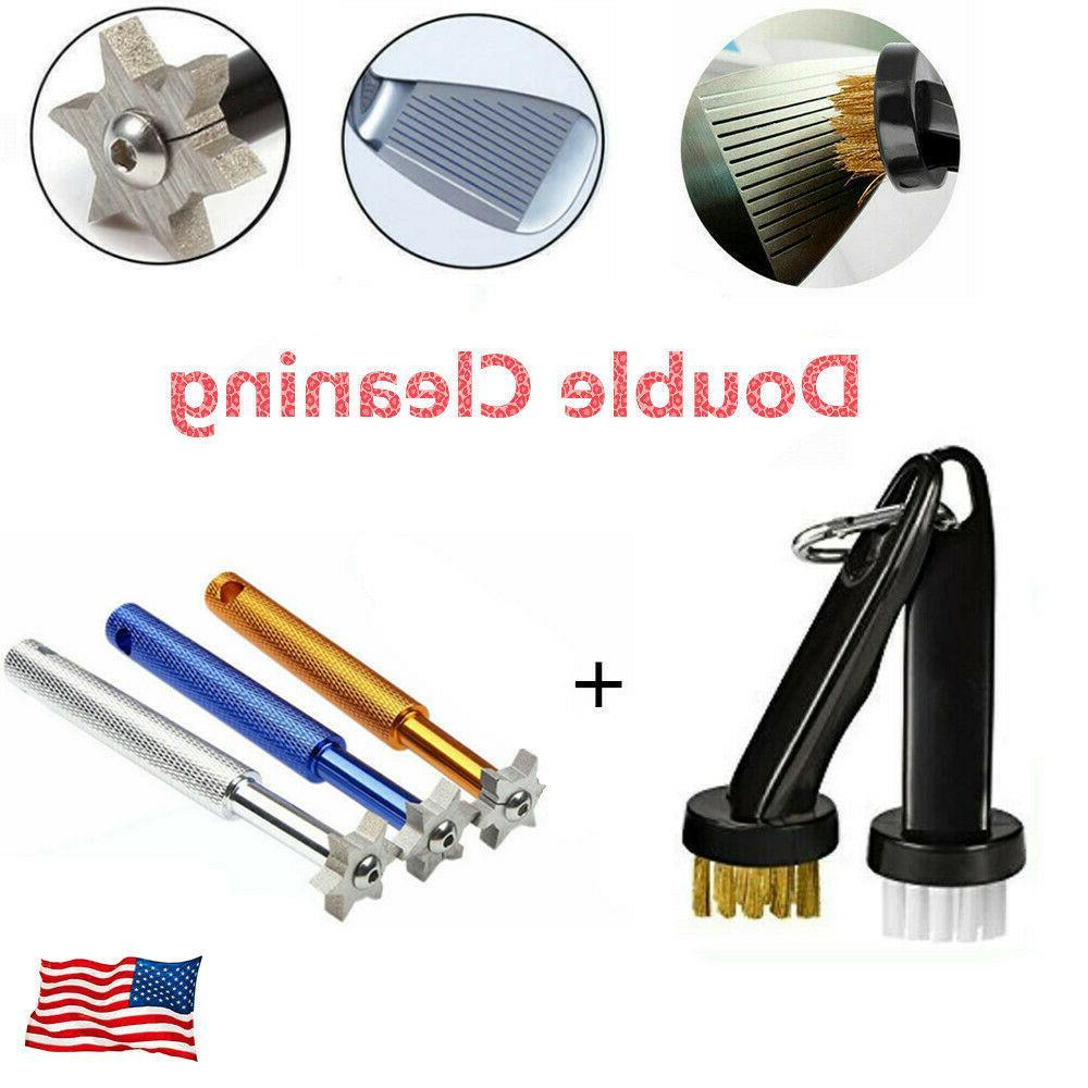golf groove sharpener and 2 pcs brush