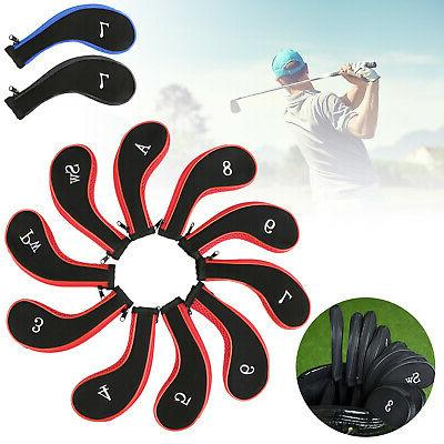 golf head iron cover set 10 piece