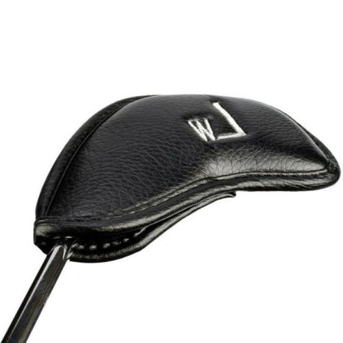 Golf Iron Covers Leather Set Head Cover Protector Water US