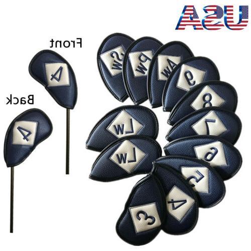 Golf Head Set Pcs Universal Iron Covers Embroidery Beauty