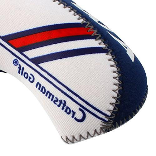 Craftsman Golf White & Blue Golf Wedge Iron Protective For Titleist, Callaway, Ping, Taylormade,