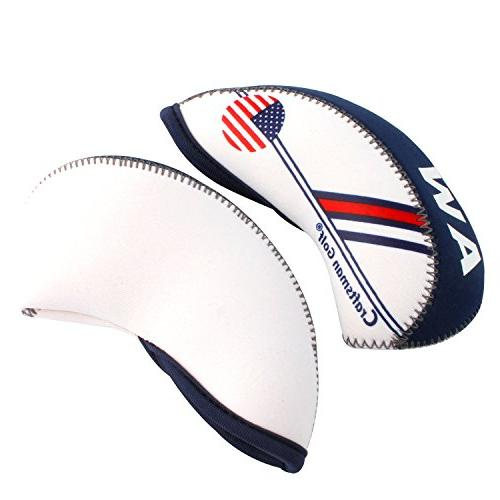 Craftsman Golf Blue Flag Golf Cover Wedge Iron Protective Headcover For Callaway, Taylormade, Nike, Etc.