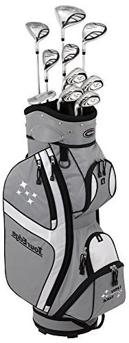 Tour Edge Female Lady Edge Package Set , Silver/Black, Full