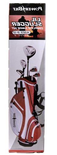 PowerBilt Lil Slugger Junior 8-Piece Red Golf Set