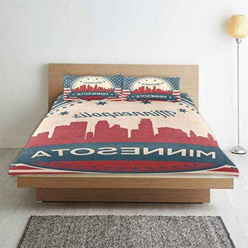 Franzibla Skyline Cover Set,Twin Size 3 Piece 1 Cover and
