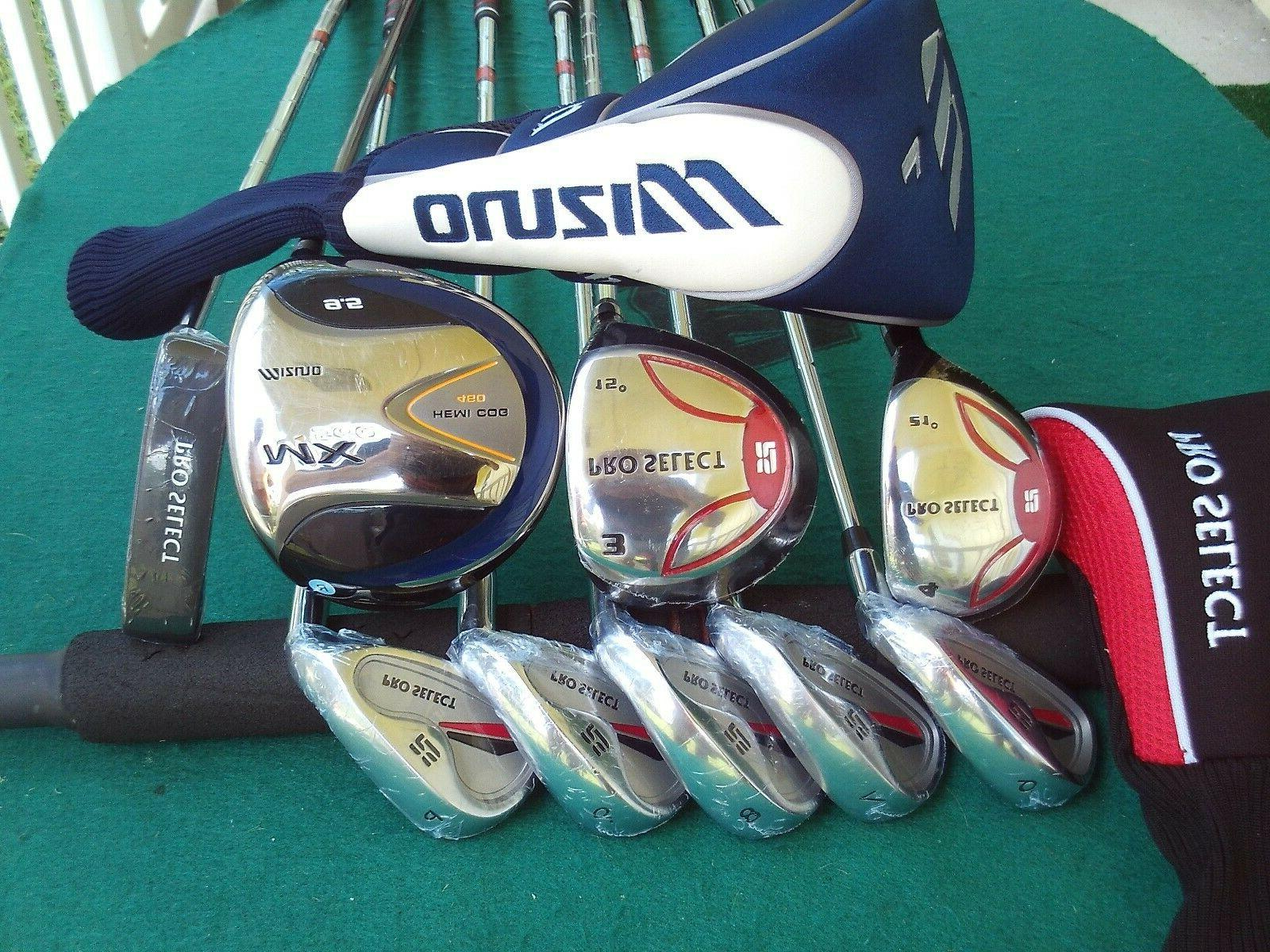Mizuno Pro Select Irons Driver Wood Hybrid Bag Mens Complete