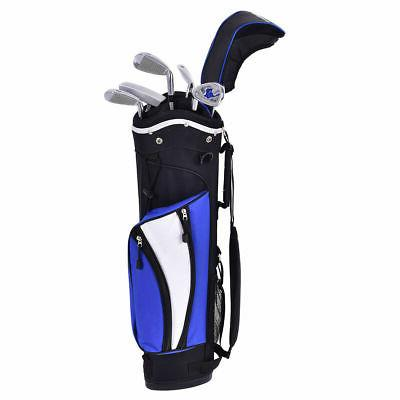 New 6 Club for Kids Wood Iron Putter Bag Blue