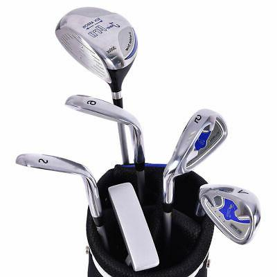 New Club Set Wood Iron Putter w/Stand Bag Ages