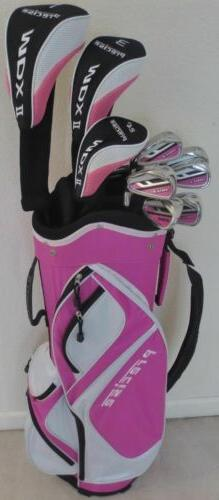 NEW Womens Complete Golf Set Driver Wood Hybrid Irons Putter
