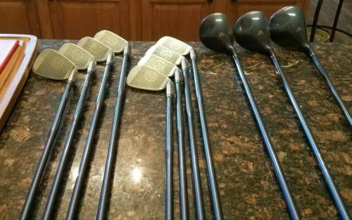 Nice Full Golf Set of Woods/Irons/Bag/Putter Graphite Shafts