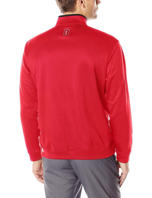 PGA TOUR Golf Performance Zip Pullover Color Block Tech Fleece Jacket