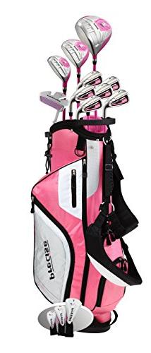 Top Line Ladies Pink Right Handed M5 Golf Club Set, Includes