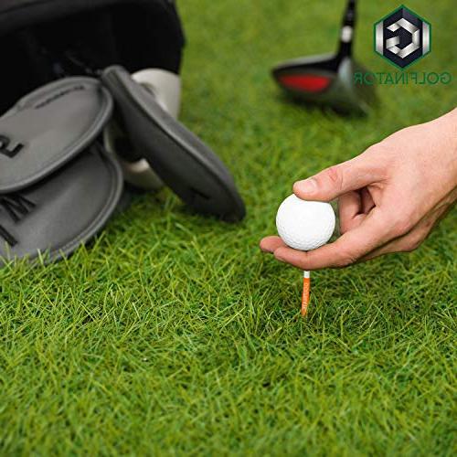 Golfinator PU Iron Head 12 Tees - Headcovers Have Numbers - Ebook Drills Improve Your Game