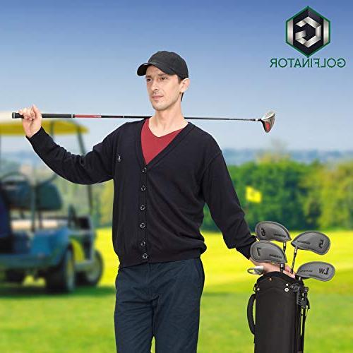 Golfinator PU Golf Iron Head - 12 Pcs 25 Tees Numbers on - Ebook : Drills Improve Your