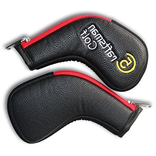 Craftsman 11pcs /Set Synthetic Red Edge Iron Head Titleist Zipper