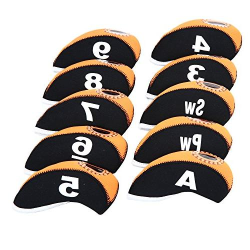 10pcs/set Head Covers with Numbers Covers