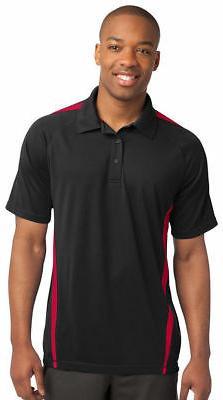 Sport-Tek Men's Dri Fit Polyester Colorblock Golf Polo Shirt
