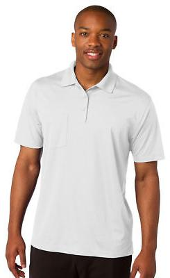 Sport-Tek Men's Dri Fit Short Sleeve Pocket Golf Polo Shirt