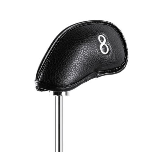 12x PU Leather Cover Club Iron Headcover For Callaway