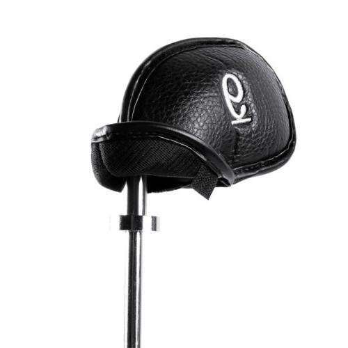 12x Leather Cover Golf Club Iron Headcover Cleveland Mizuno Callaway