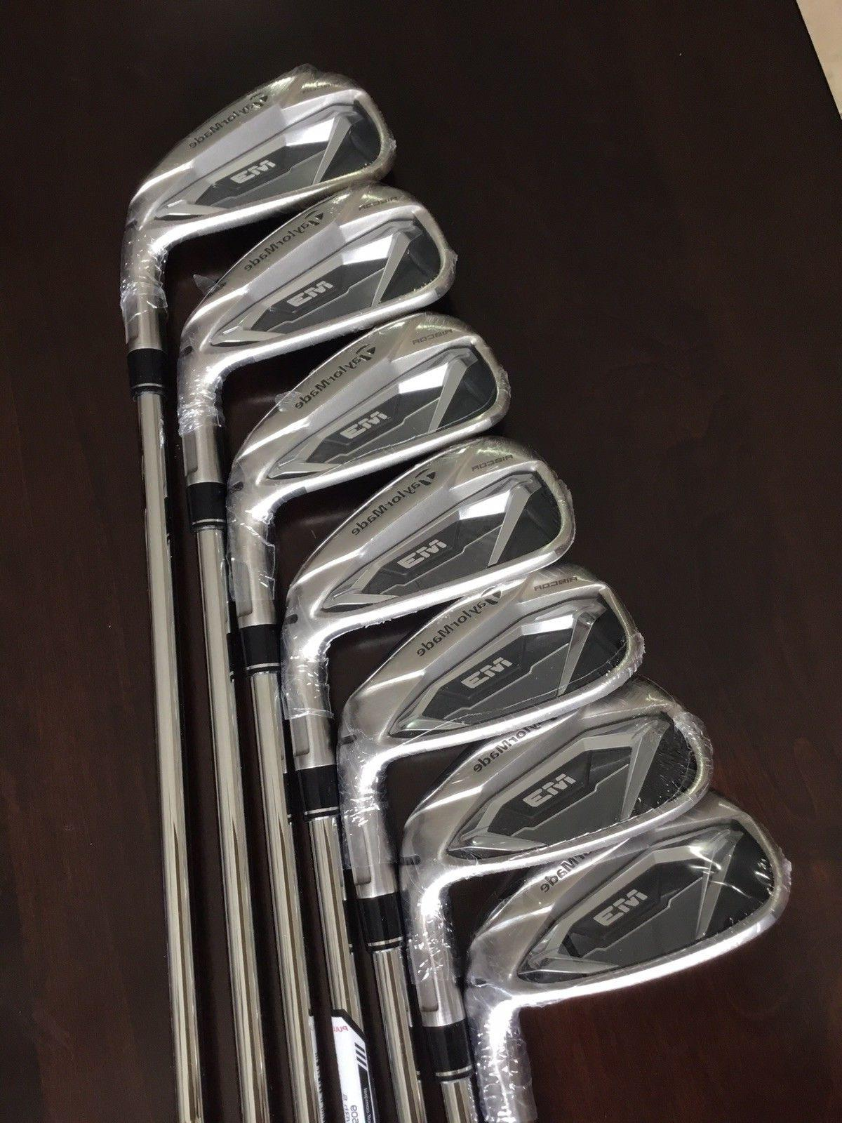 Taylor Made M3 Iron Set 4-PW Steel Shaft Stiff Flex Right Ha