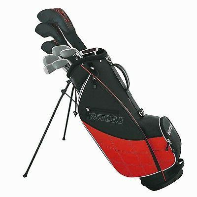 Wilson Ultra Men's 13-Piece, Left-Handed Golf Club Set w/ Ba