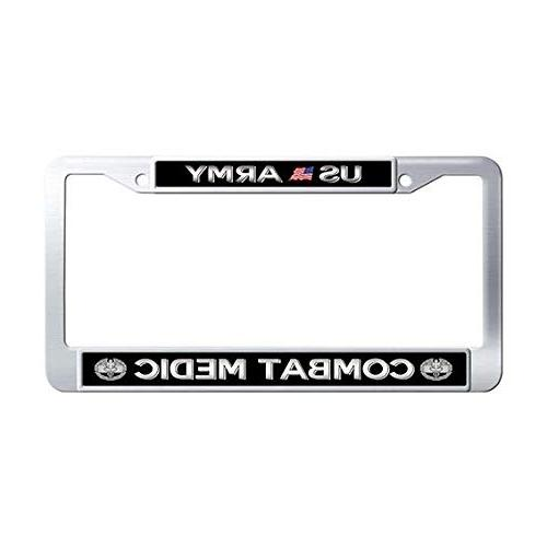 us army combat medic license plate frame